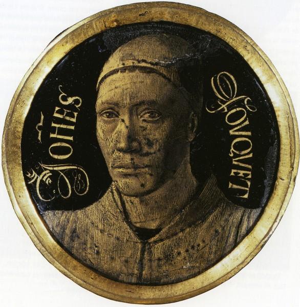 Jean Fouquet, Selbstbildnis, um 1455, Email, Durchmesser 7,3 cm, Paris, Musée du Louvre