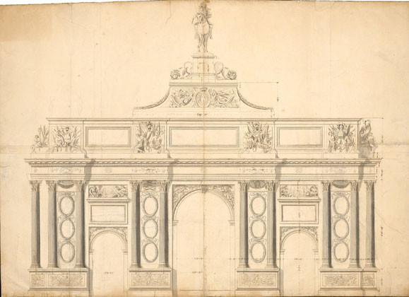 Paris, Triumphbogenprojekt König Ludwigs XIV.