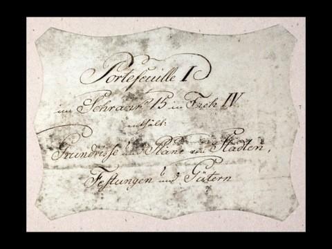 Die ursprüngliche Beschriftung der Mappen