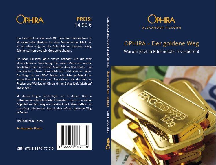 Buch: OPHIRA - der goldene Weg Autor: Alexander Filkorn