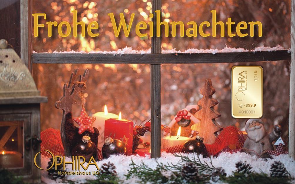 Geschenkbarren  Frohe Weihnachten einmal Gold