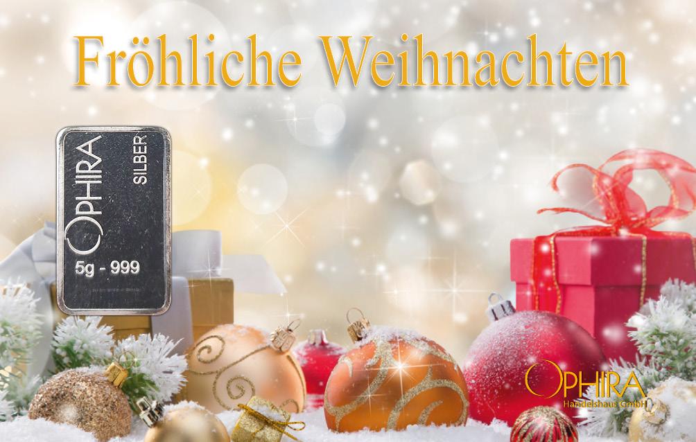 Geschenkbarren Weihnachten mit einem Silberbarren