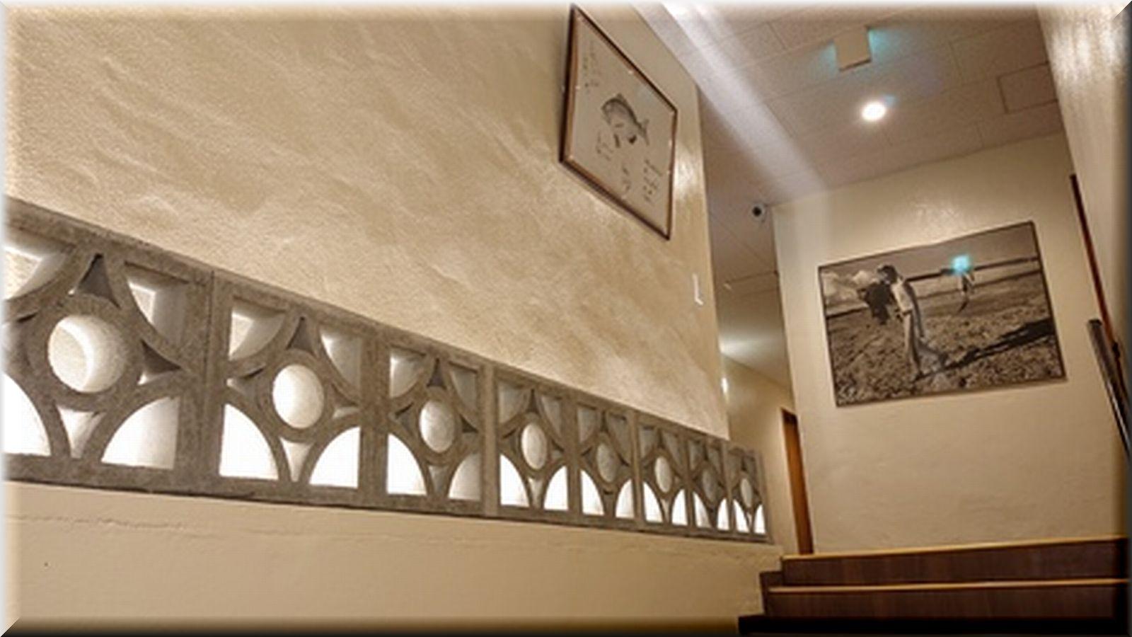 階段上がって客室は2階