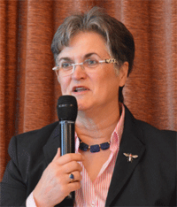 Bild von der zu der Zeit noch amtierenden Landesvorsitzenden Brigitte Scherb