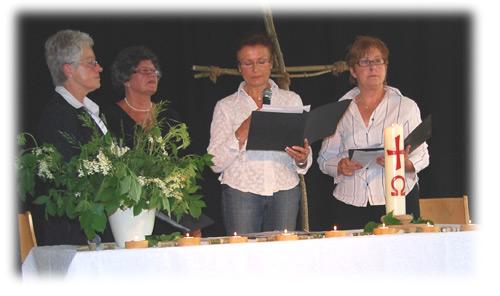Bild von den Mitwirkenden beim Gottesdienst