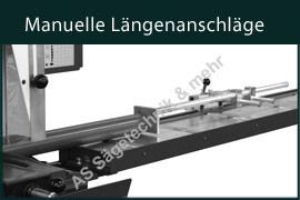 Manuelle Längenanschläge