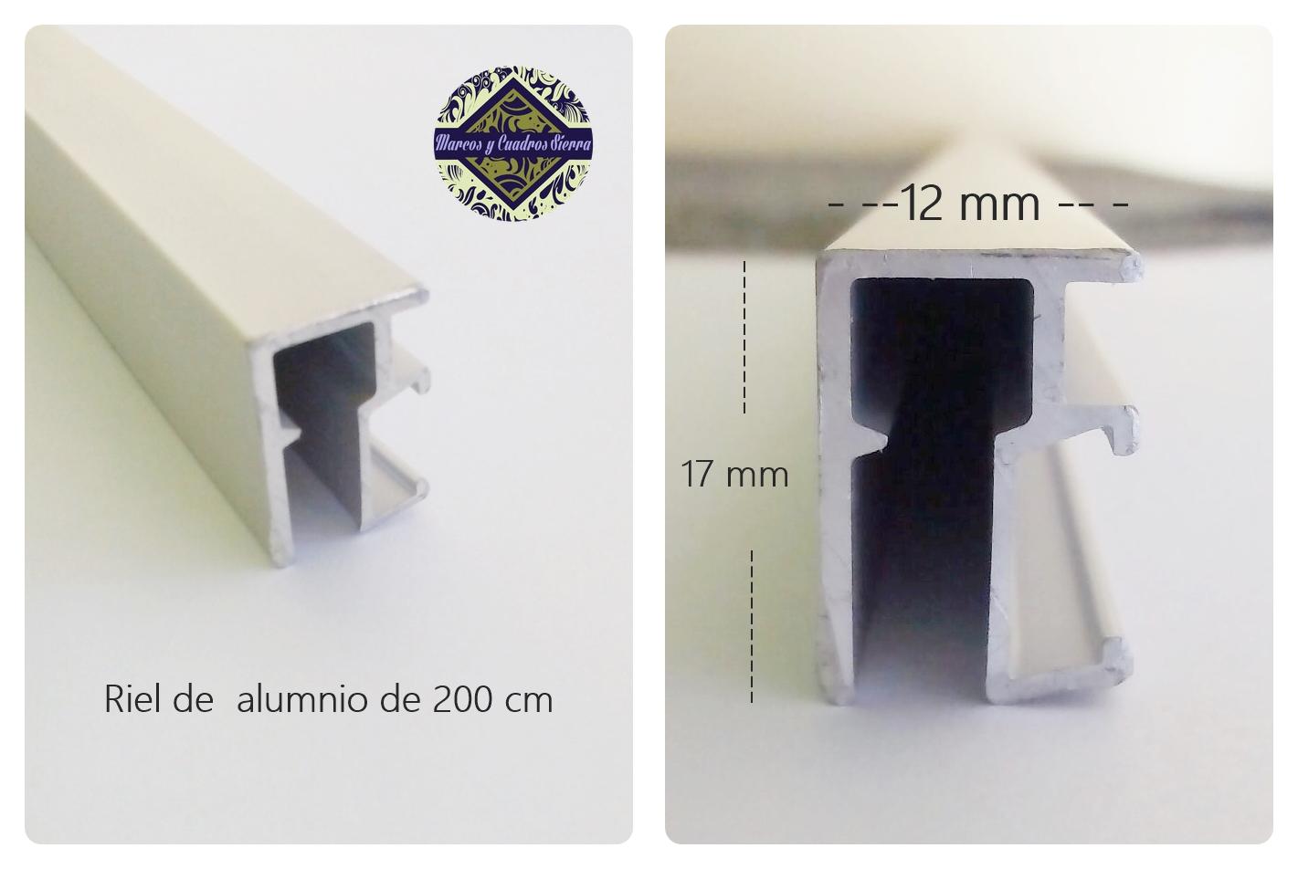 1. Sistema para colgar cuadros: Modelo con rail. - Enmarcado Profesional