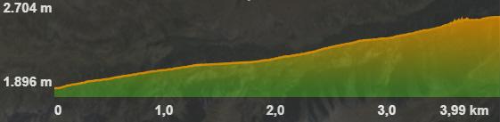 Perfil de la ruta al Pic de Pedrons
