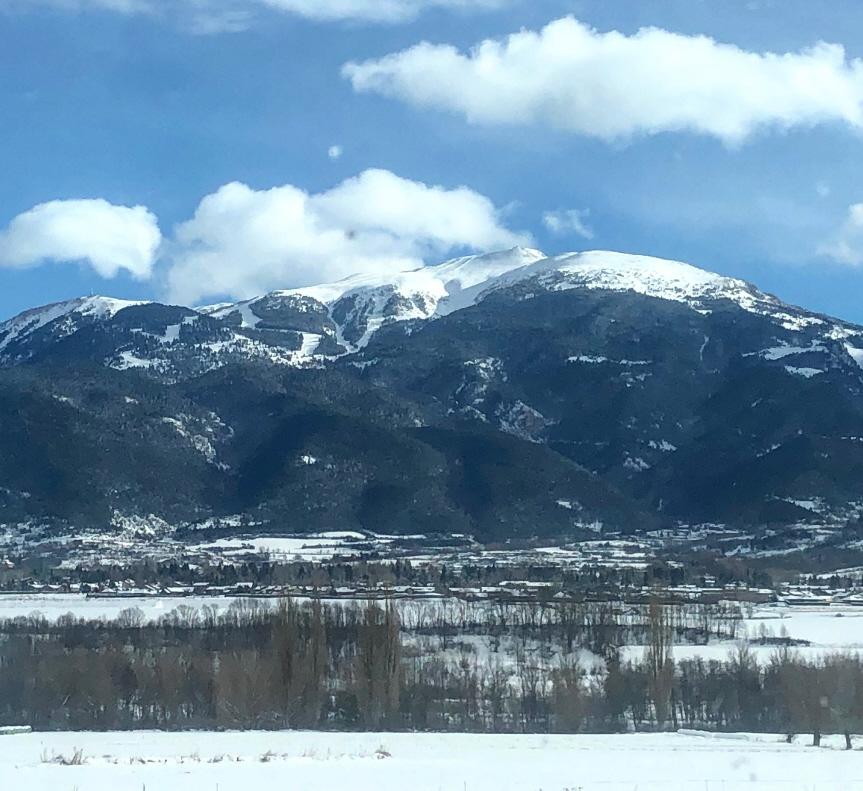 Vistes de La Molina i la Tossa d'Alp, a la Baixa Cerdanya