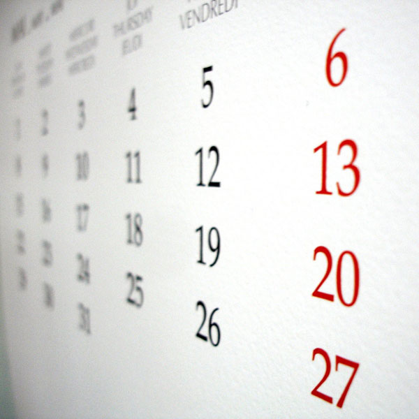 Agenda, calendari