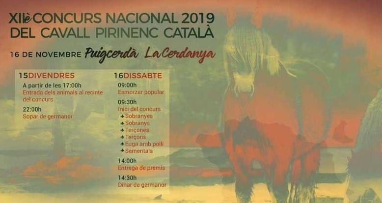 Cartell de Concurs de Cavall Pirinenc