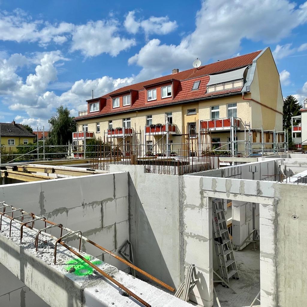 Fortschritt mehrfamilienhaus in berlin-bohnsdorf