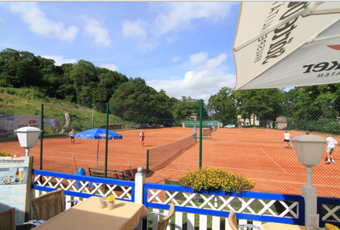 Blick von der Terrasse des Tennisstübchen