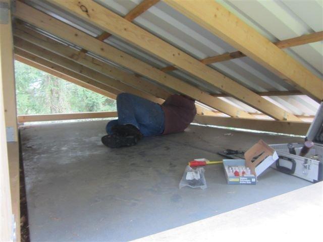 Ausbesserungen am Dach