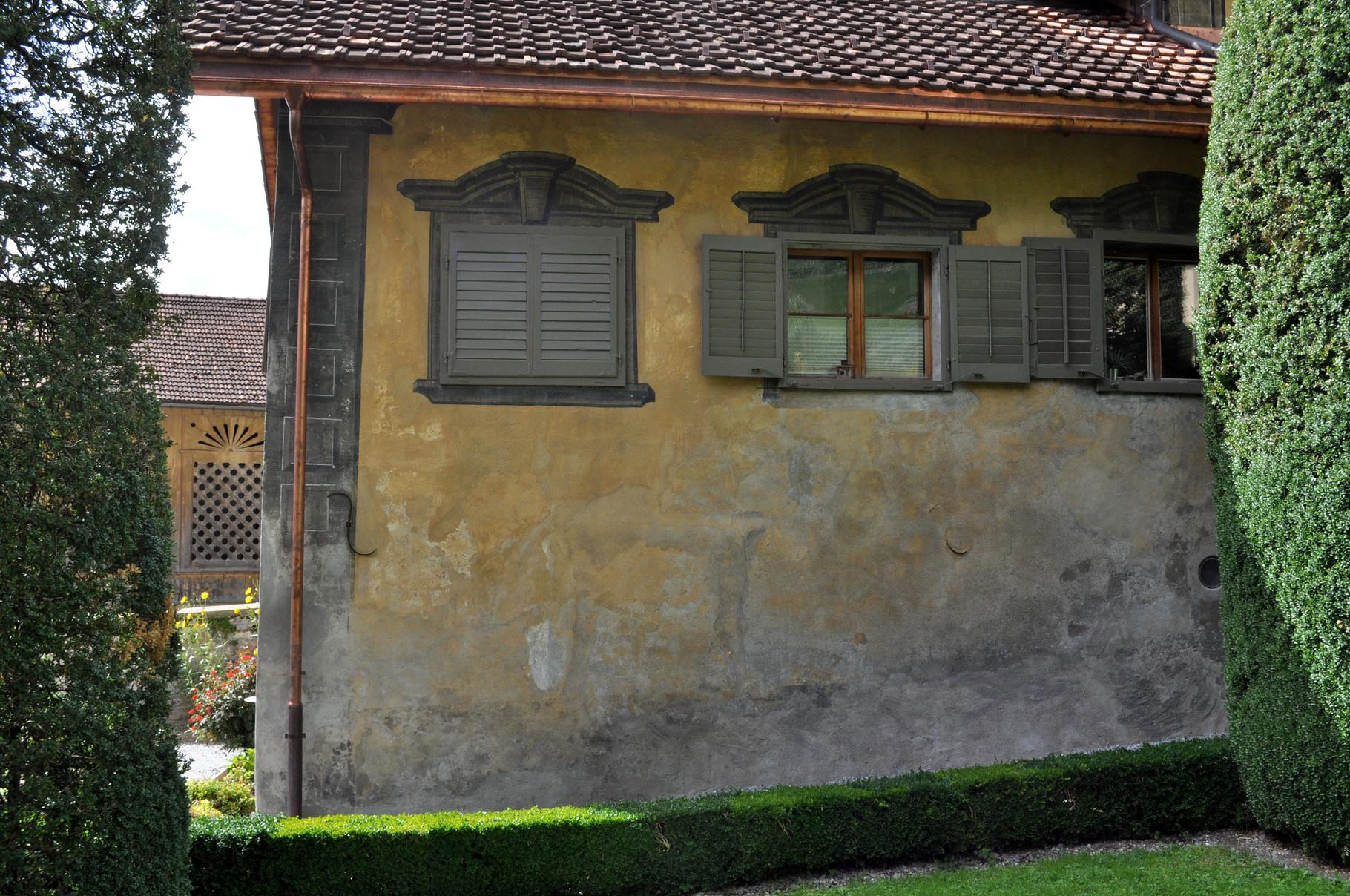 Linke Ecke Ostfassade nacher