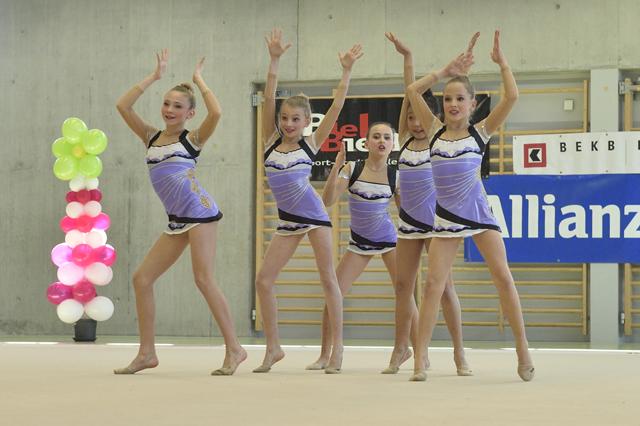 Jugend-Gruppe G1 beim Wettkampfdurchlauf