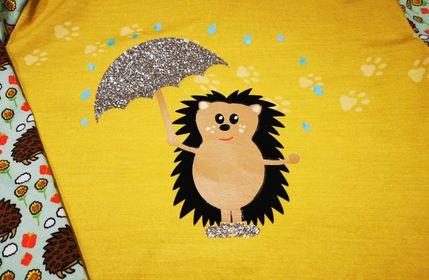 Igel Ingmar mit Regenschirm kostenlose Plottdatei   Freebie