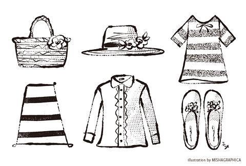 カット線画『ファッション小物シリーズ3』