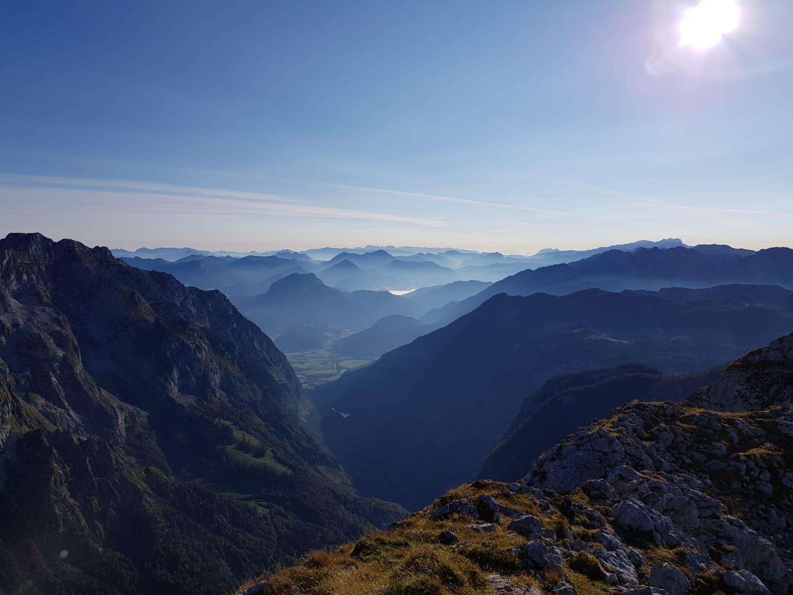 Blick nach Österreich vom Schneibstein