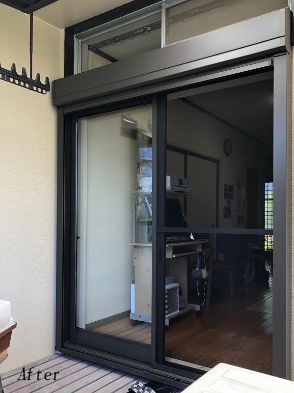 戸袋窓からシャッター付窓へ【福津市 S様邸】