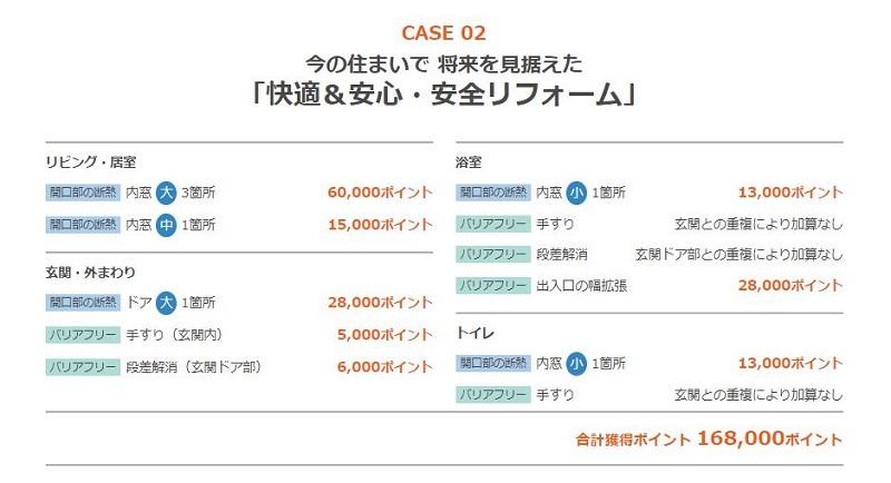 次世代住宅ポイント制度「快適&安心・安全リフォーム」ポイント獲得 case02