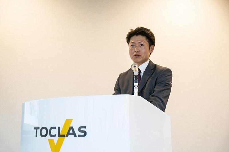 トクラス本社(静岡県浜松市)表彰式(スピーチ)の様子