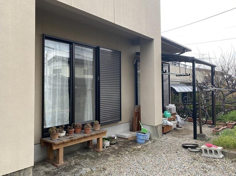 ウッドデッキ・テラス屋根工事-1