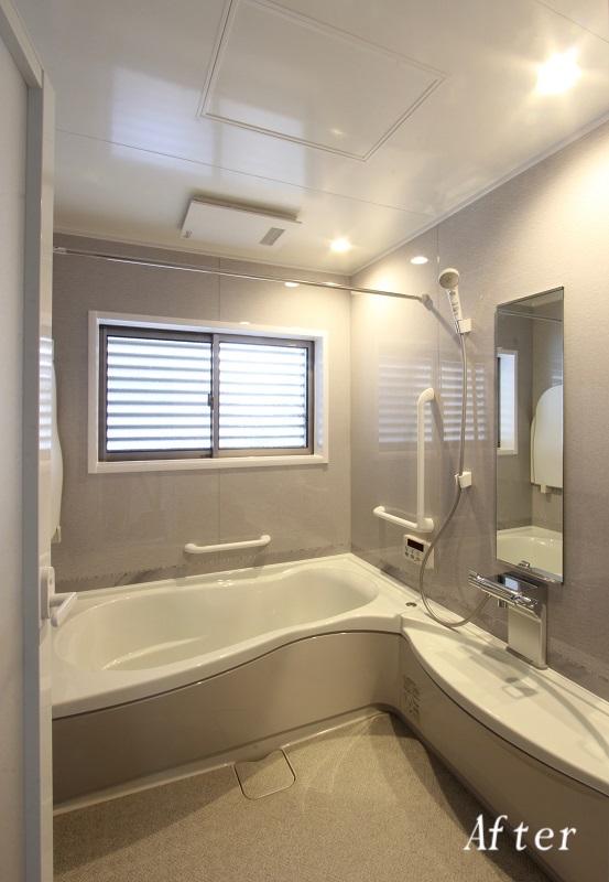 既存浴室を拡張し、一回り大きなシステムバスを施工【筑紫野市 K様邸】