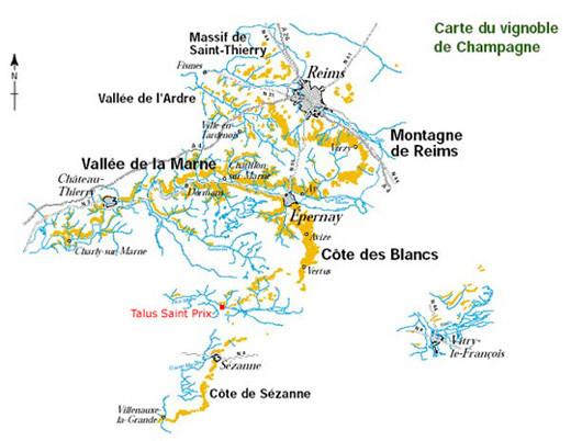 Le Domaine est situé à 7 kms au sud ouest de Reims.