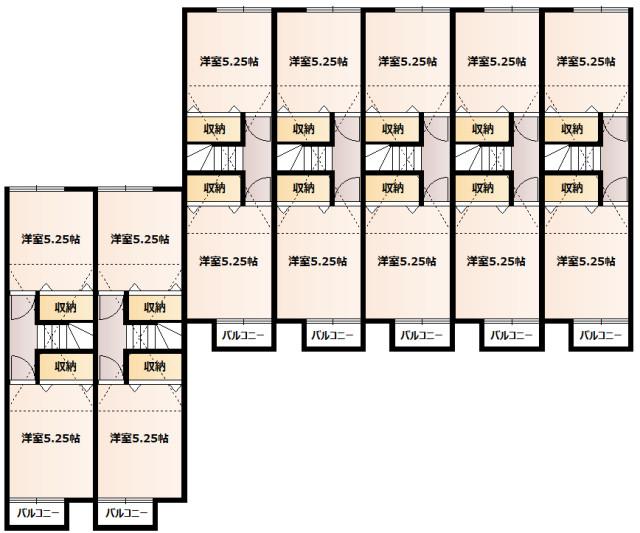 ハイクレスト湘南2F平面図