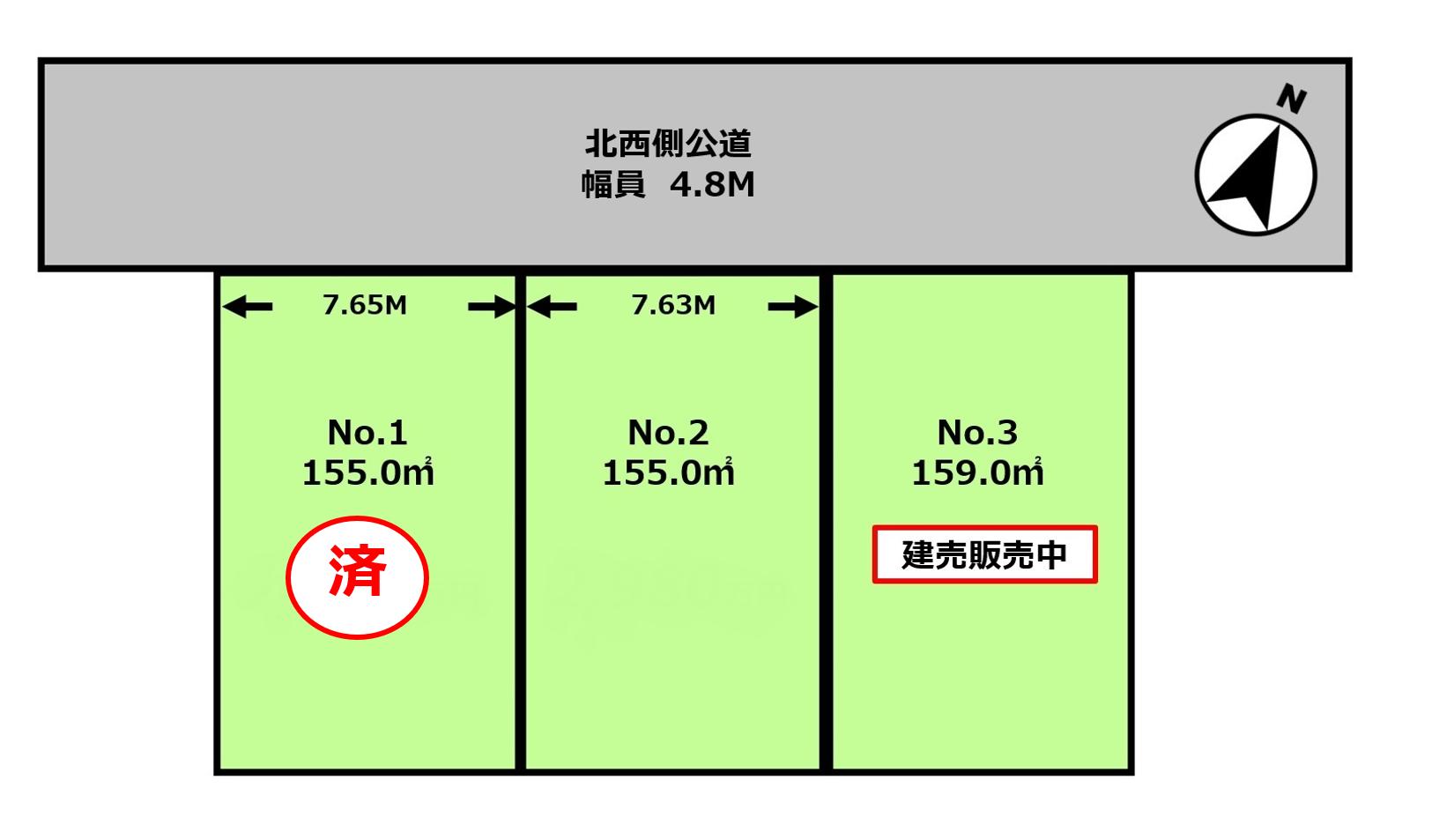 厚木市妻田東3丁目売地区画図