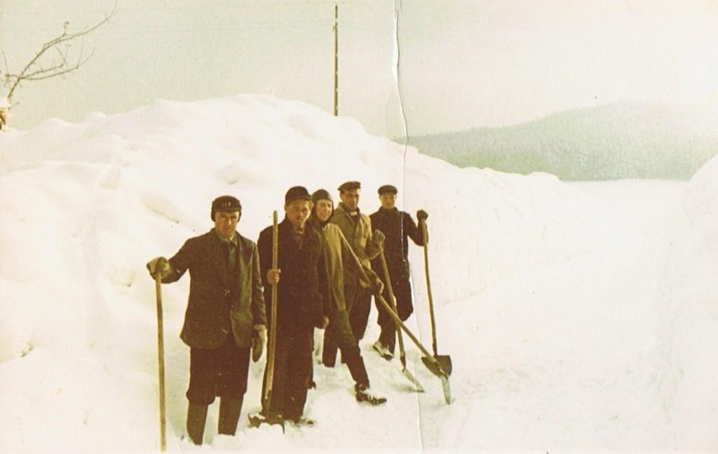 Schneeschaufeldienst im Jahre 1963
