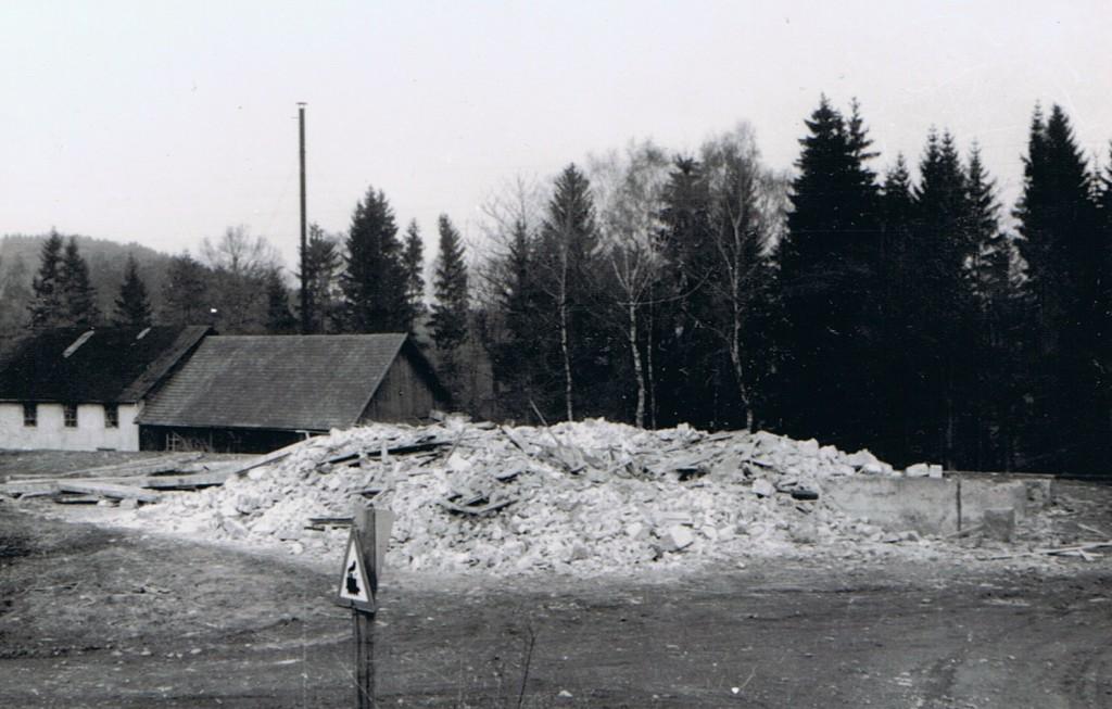 Bahnhof nach der Sprengung 1967
