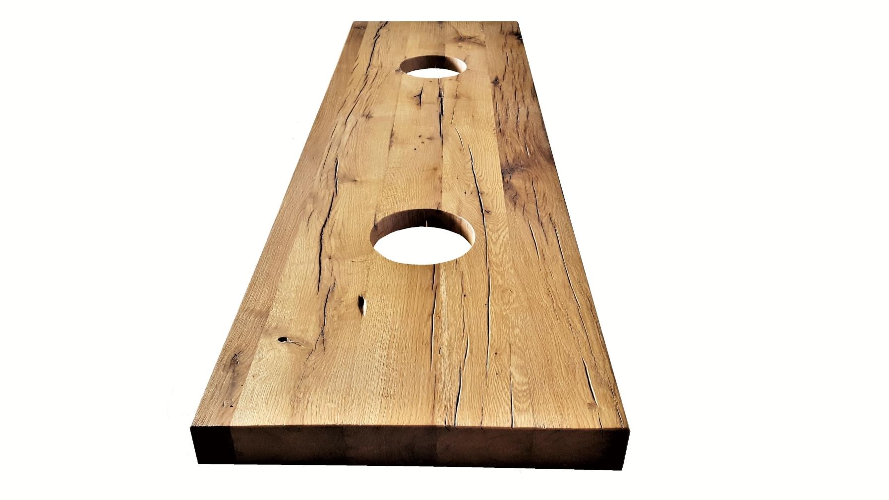 Waschtisch aus altem recycling Holz