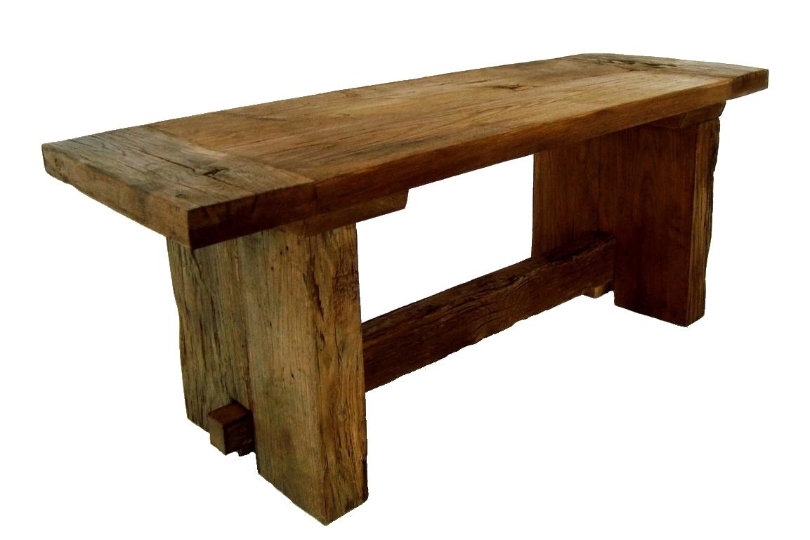 Holzbank aus antiker Eiche nach Maß