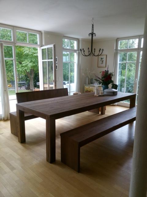 Esstisch Eiche modern rustikal mit Sitzbänken