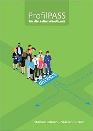 Bild grünes Workbook für Kompetenzermittlung ProfilPASS Selbständigkeit