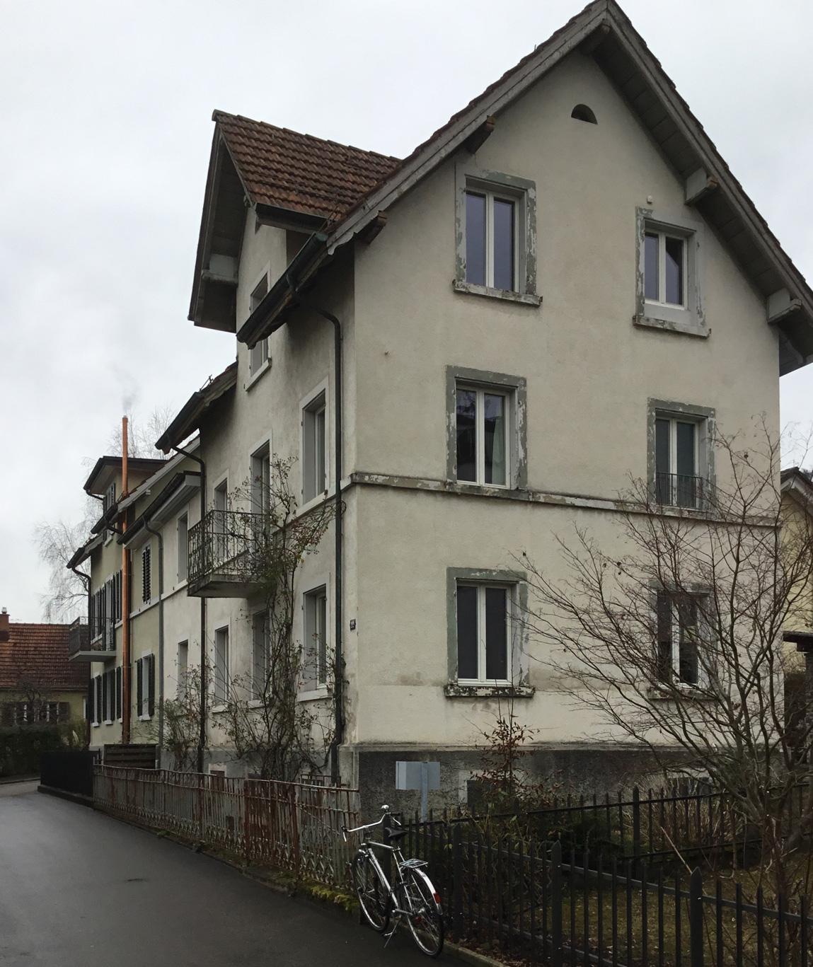 Das Baumeisterhaus vor der Fassadensanierung