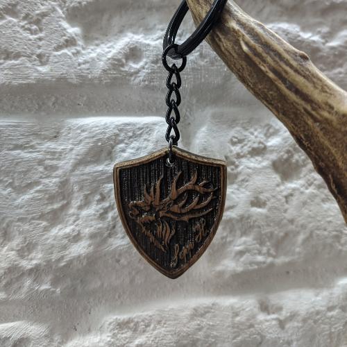 Schlüsselanhänger mit Logo Gravur