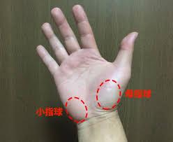 小指側の手首の所が小指球です(^^♪