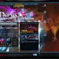 web page layout design for Garena
