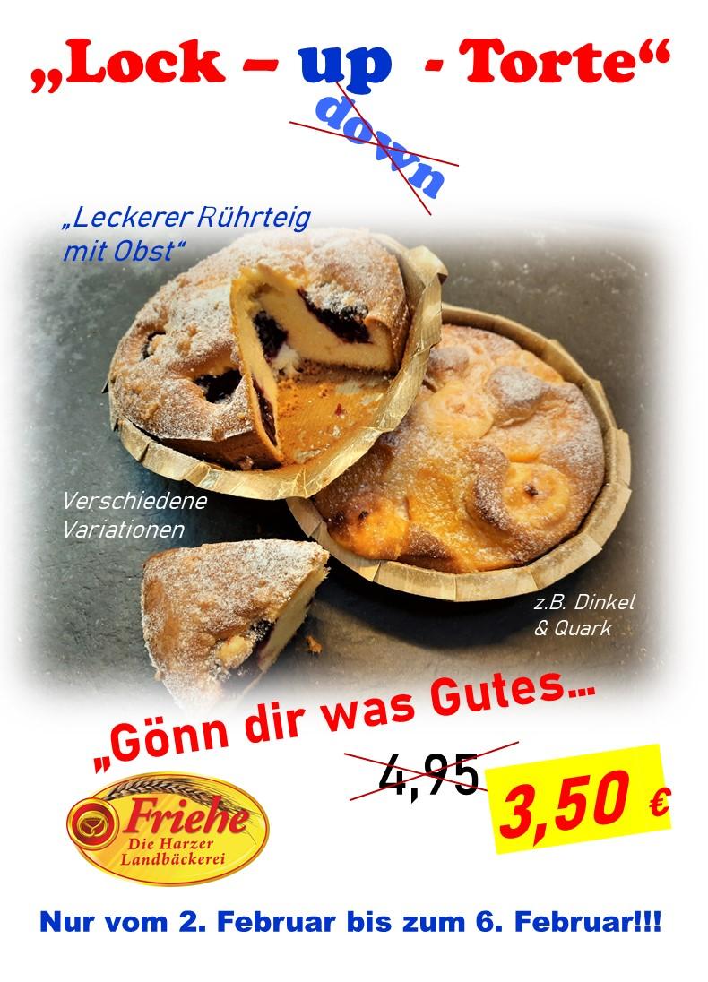 """Den Lockdown """"lindern"""" - Bei Friehe - der Harzer Landbäckerei gibt es jetzt die LOCK UP TORTE!"""