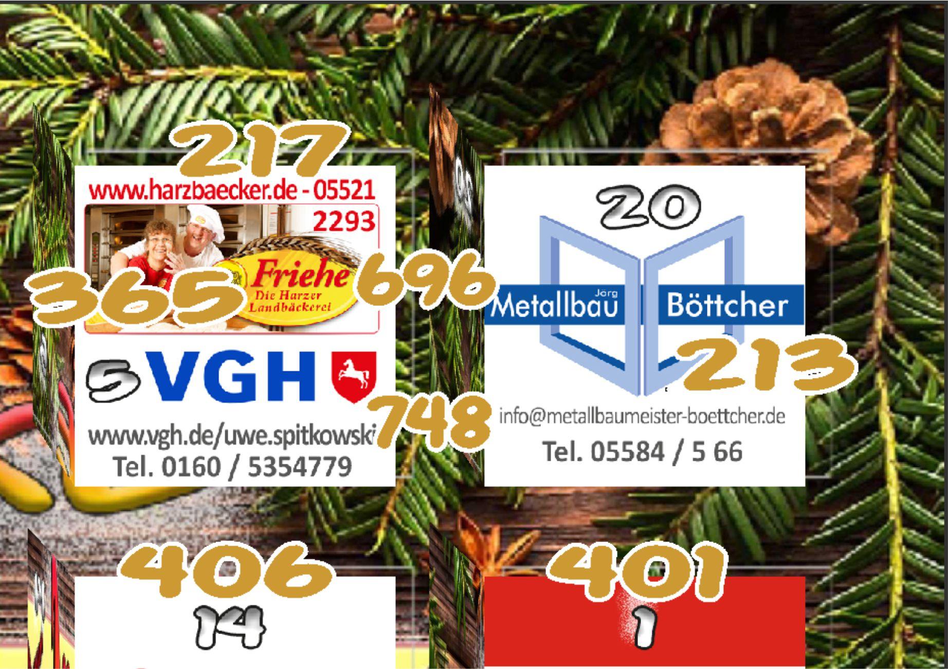 Heute ist der 20. Dezember, der 4. Advent und hier ist wieder 1 Gewinnnummer!