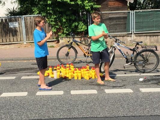 die kids lieben PowerBar-Flaschen