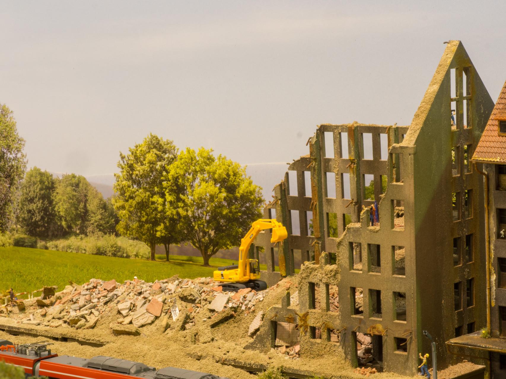 TT-Anlage Gubin-Abrissgebäude