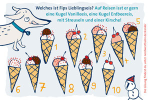 Welches ist Fips Lieblingseis?