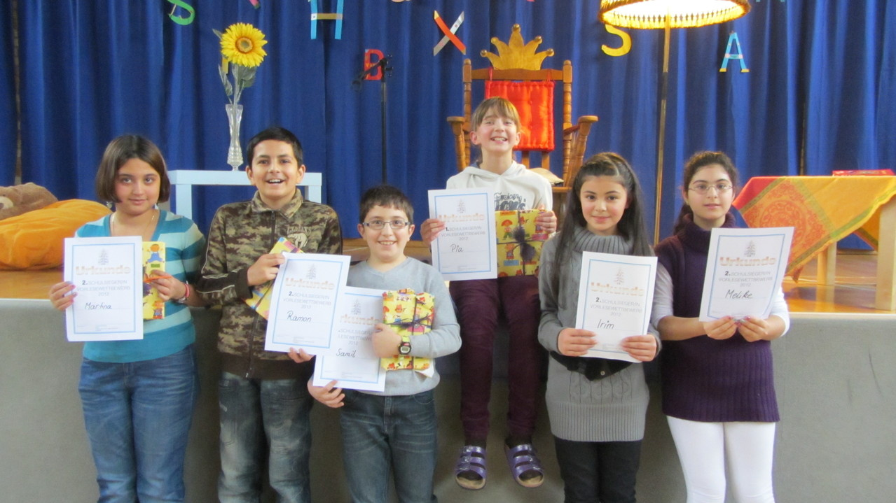 Alles Sieger: Die besten Vorleser unserer Schule