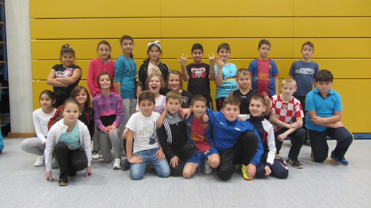 So sehen Sieger aus: Die Klasse 4d!
