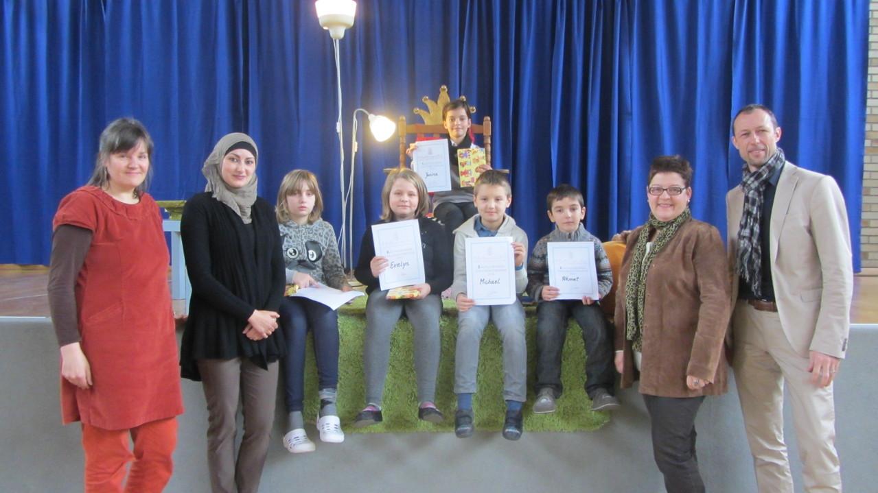 Die Siegerin steht fest: Janina ist die beste Vorleserin im Schuljahr 2013/2014!