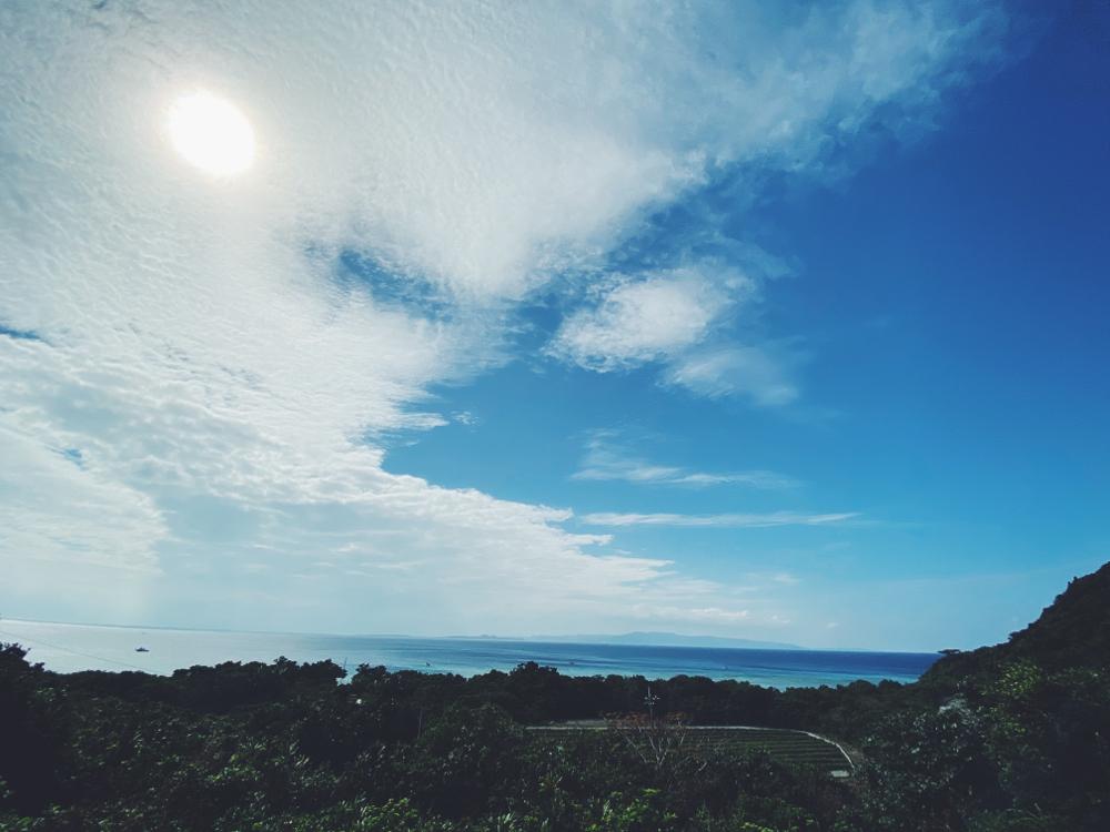 石垣島は久々の晴れ間で気持ちよかった。